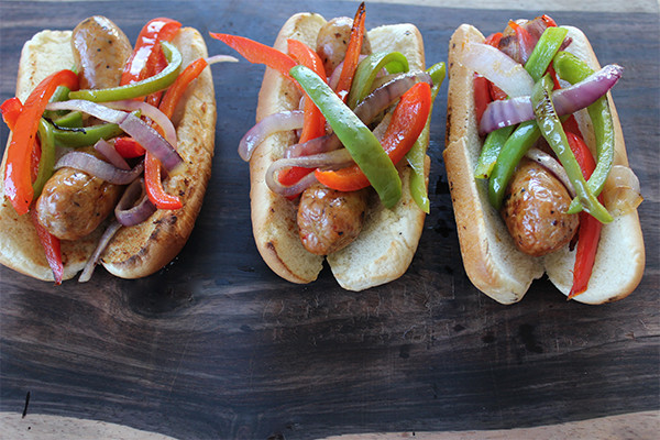Grilled Sausage & Peppers